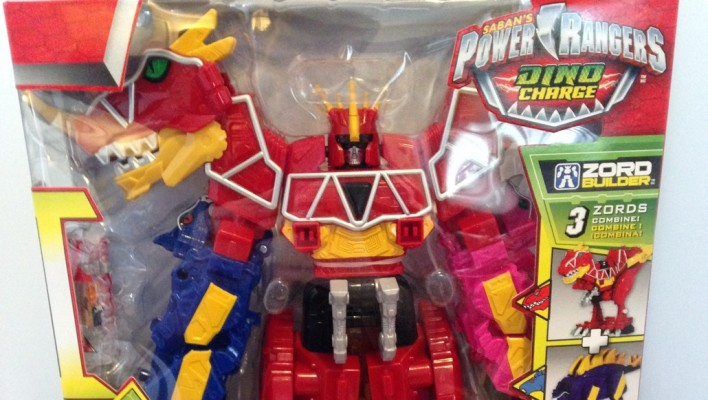 EXCLUSIVE - Power Rangers Dino Charge Megazord In-Hand Images, Video Unboxing