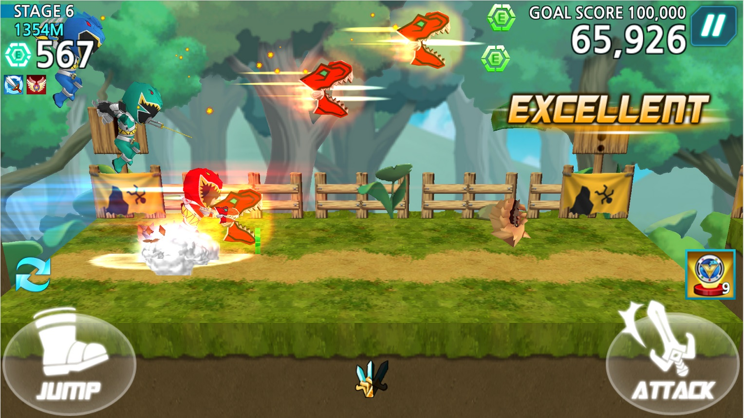 Power Rangers Dash Mobile Game Now Available On Itunes