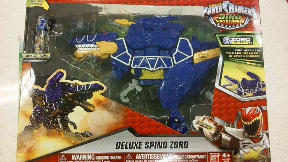 Dino supercharge deluxe spino zord found at us retail tokunation
