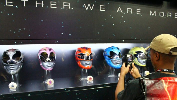 SDCC 2016 - Power Rangers 2017 Movie Helmet & Power Coin Images