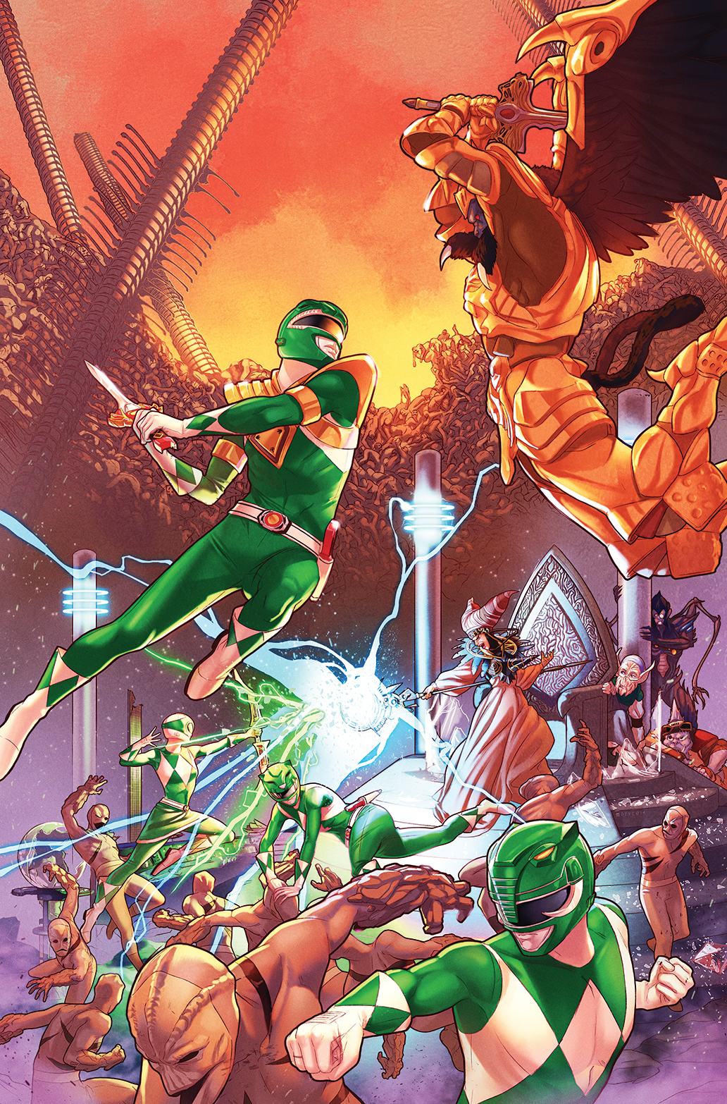 Mighty morphin power rangers issue 13 covers and synopsis for Powers bureau issue 13