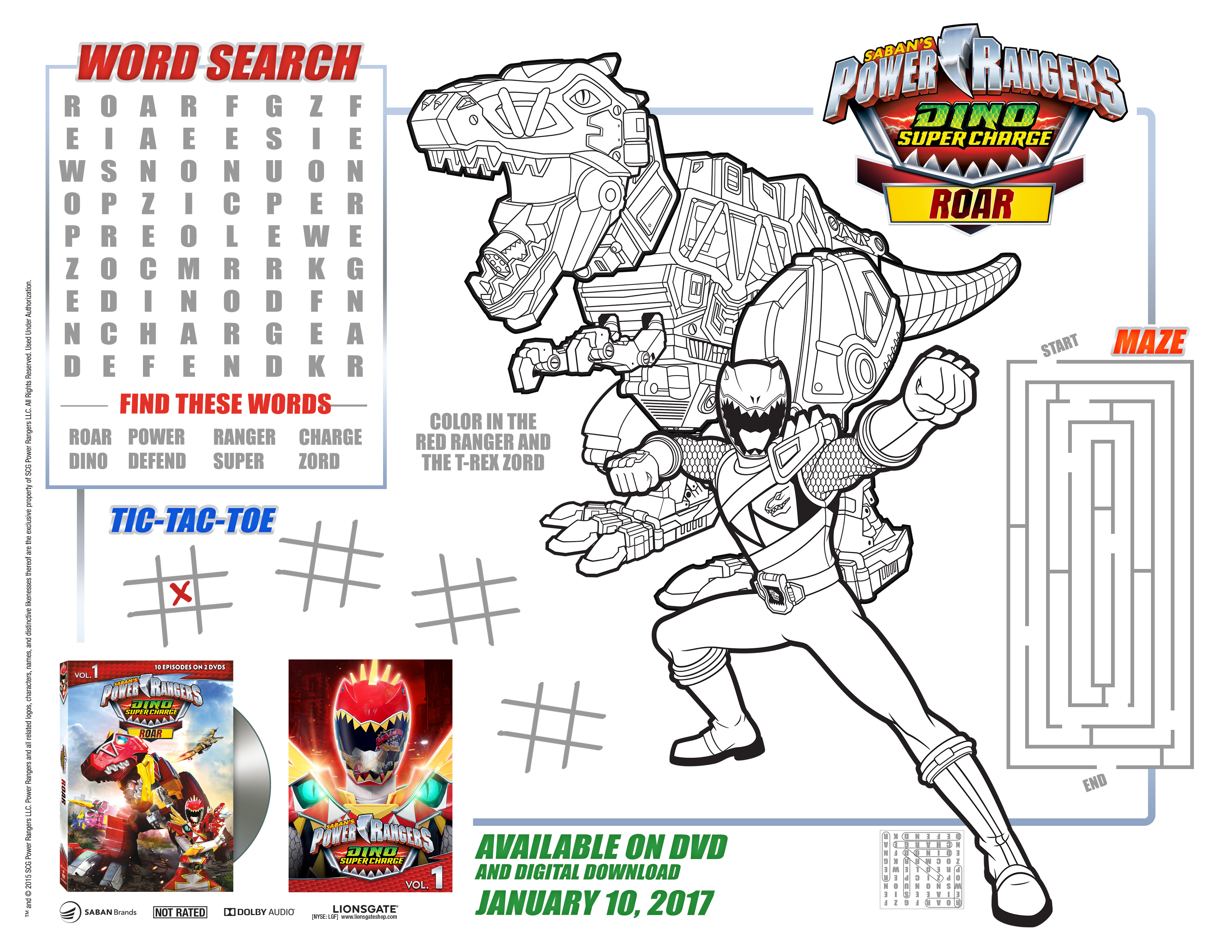 Power Rangers Dino Supercharge Dvd Roar Releases Today