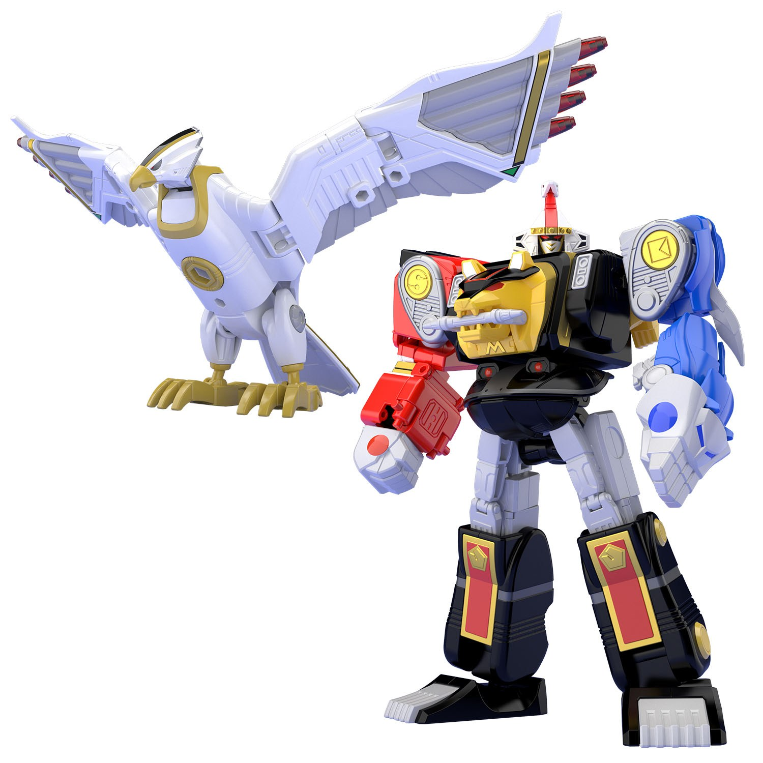 mighty morphin power rangers ninja megazord and falconzord super mini pla see us release. Black Bedroom Furniture Sets. Home Design Ideas