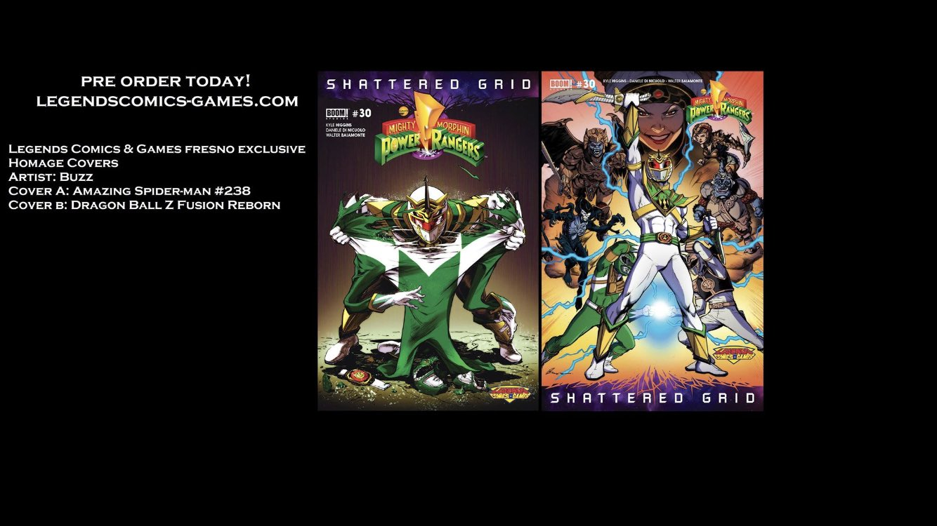 Power Rangers Shattered Grid Issue #30 Variant Covers and Preview Released