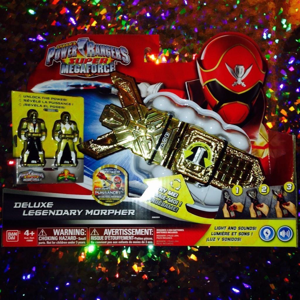 Deluxe Legendary Morpher Power Rangers Super Megaforce Light Sounds Ranger Keys