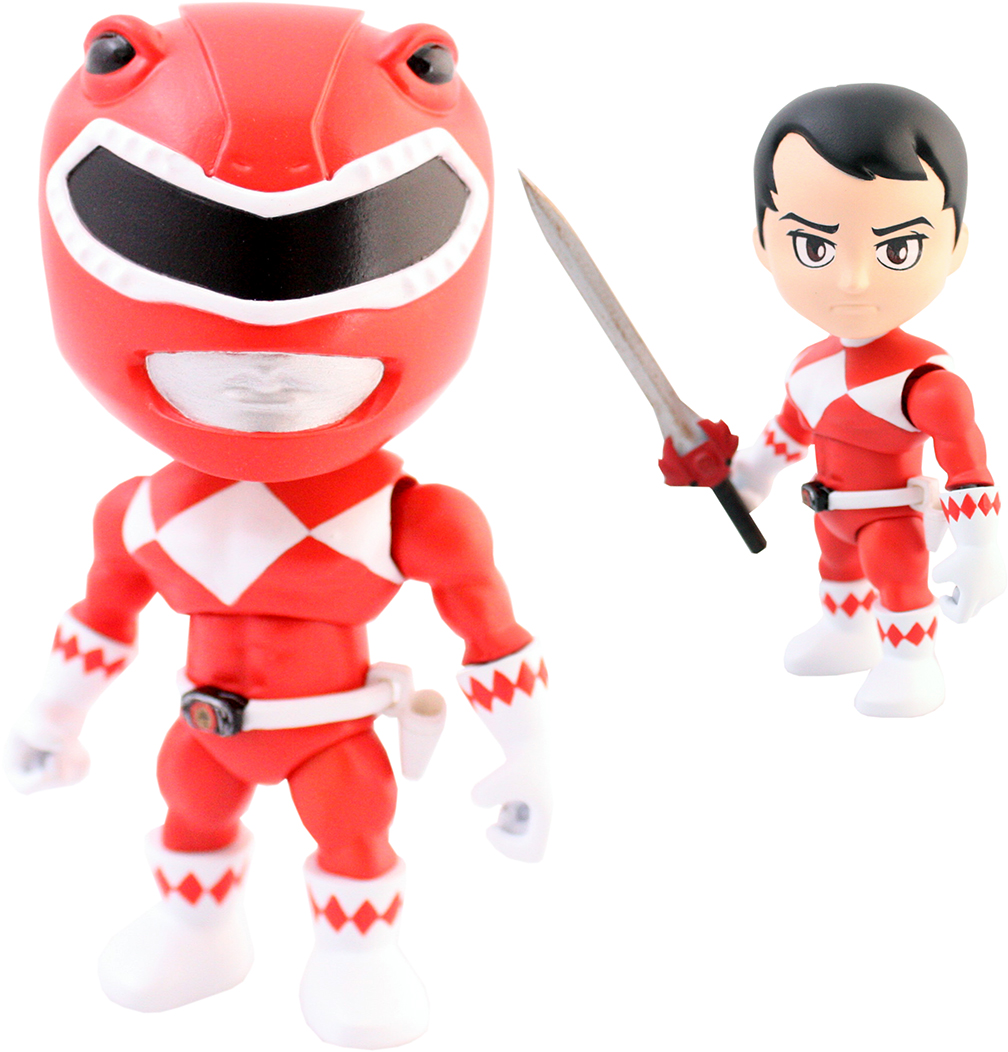"""Mighty Morphin Power Rangers Blind Box 3/"""" Action Vinyls Series 1 Case of 16"""
