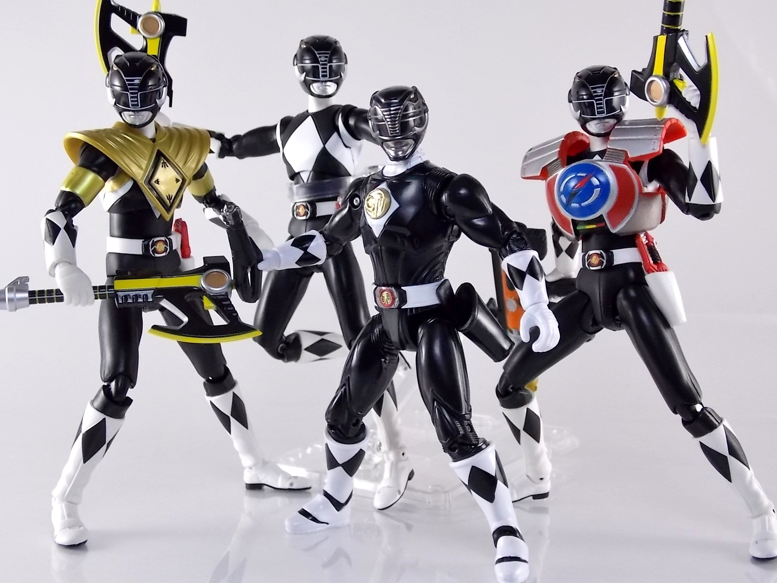 "1995 Power Rangers Black Ranger 4/"" Figure"