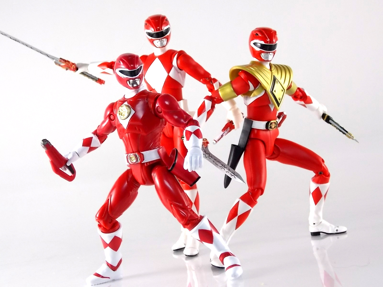 Sabans Power Rangers Movie Then and Now Red Ranger Action Figure Set 5 Inches