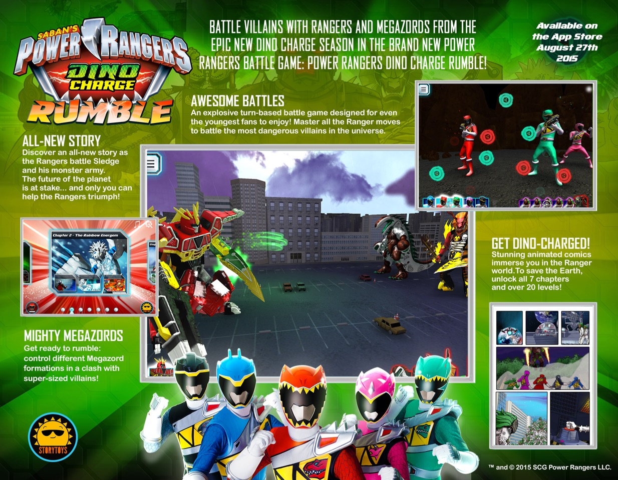 New Mobile Game Power Rangers Dino Charge Rumble