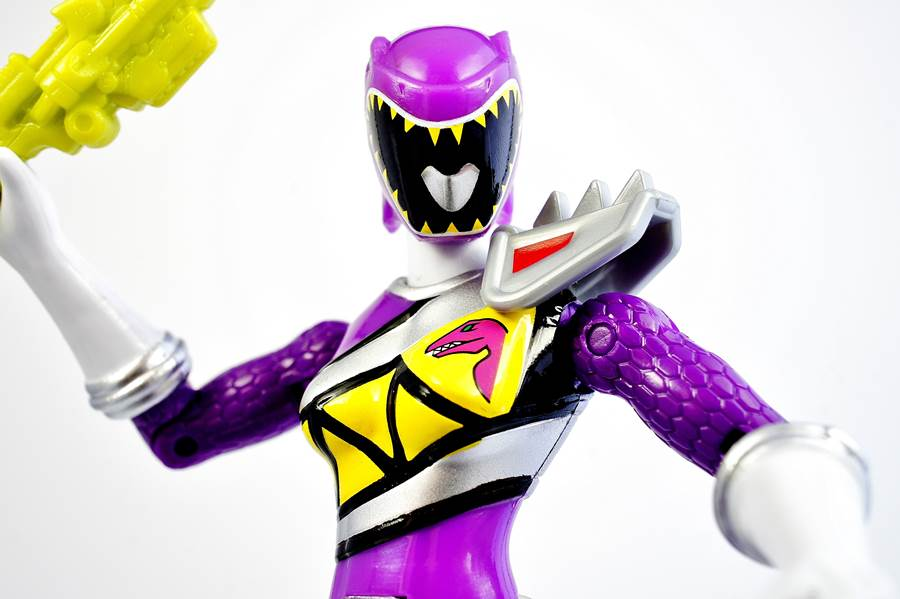 POWER RANGERS DINO SUPERCHARGE PURPLE RANGER ON HAND READY TO SHIP!
