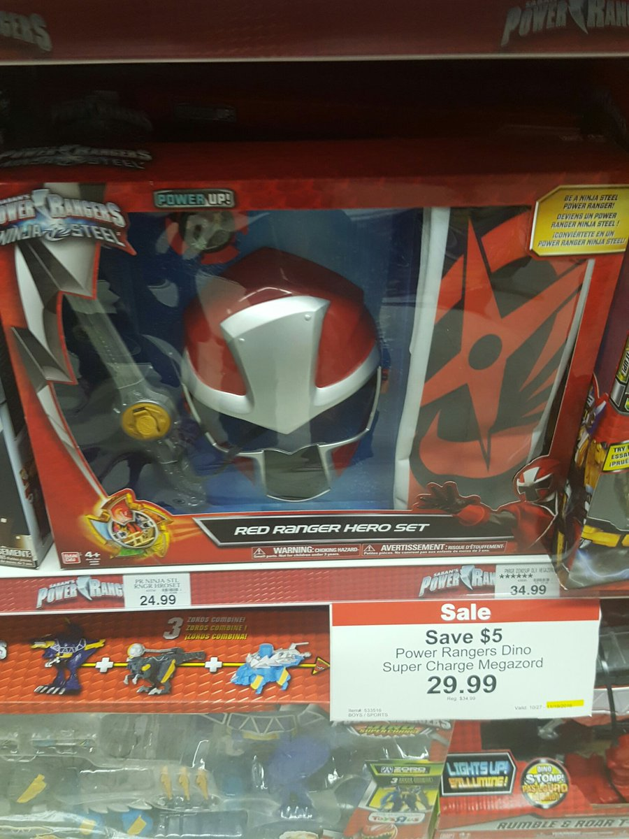 Power Rangers Ninja Steel & 2017 Movie Toys Found at US