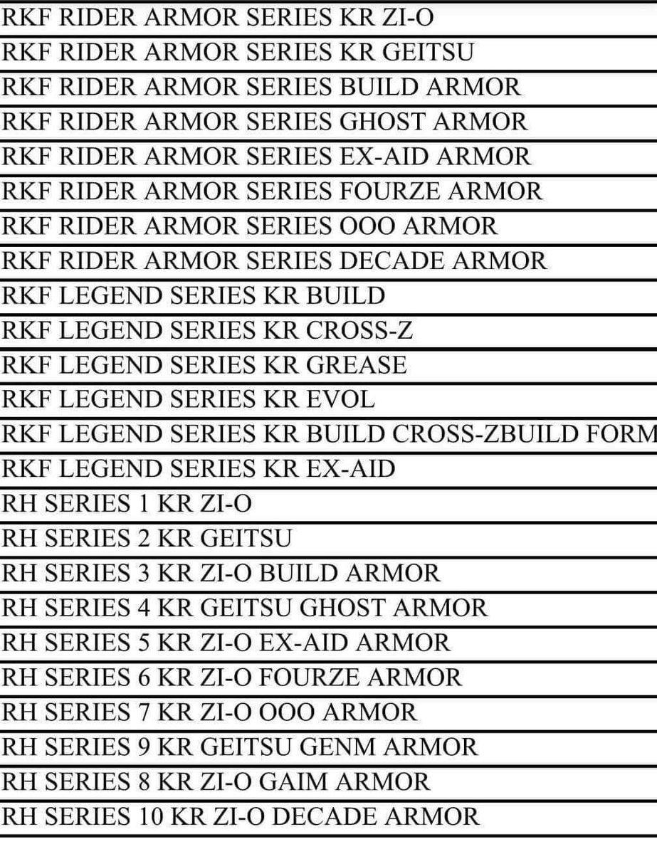 Kamen Rider Zi-O Toy Listings Revealed? - Tokunation