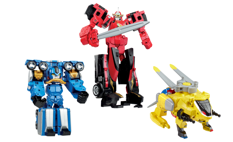First Look at Hasbro's Beast Morpher Zords and Playskool Red Dragon Thunder Zord!