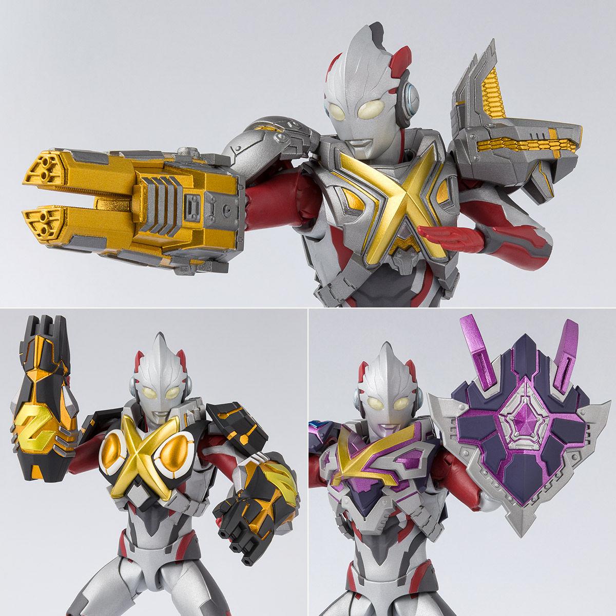 S H  Figuarts Ultraman X Mons Armor Option Parts Set Announced