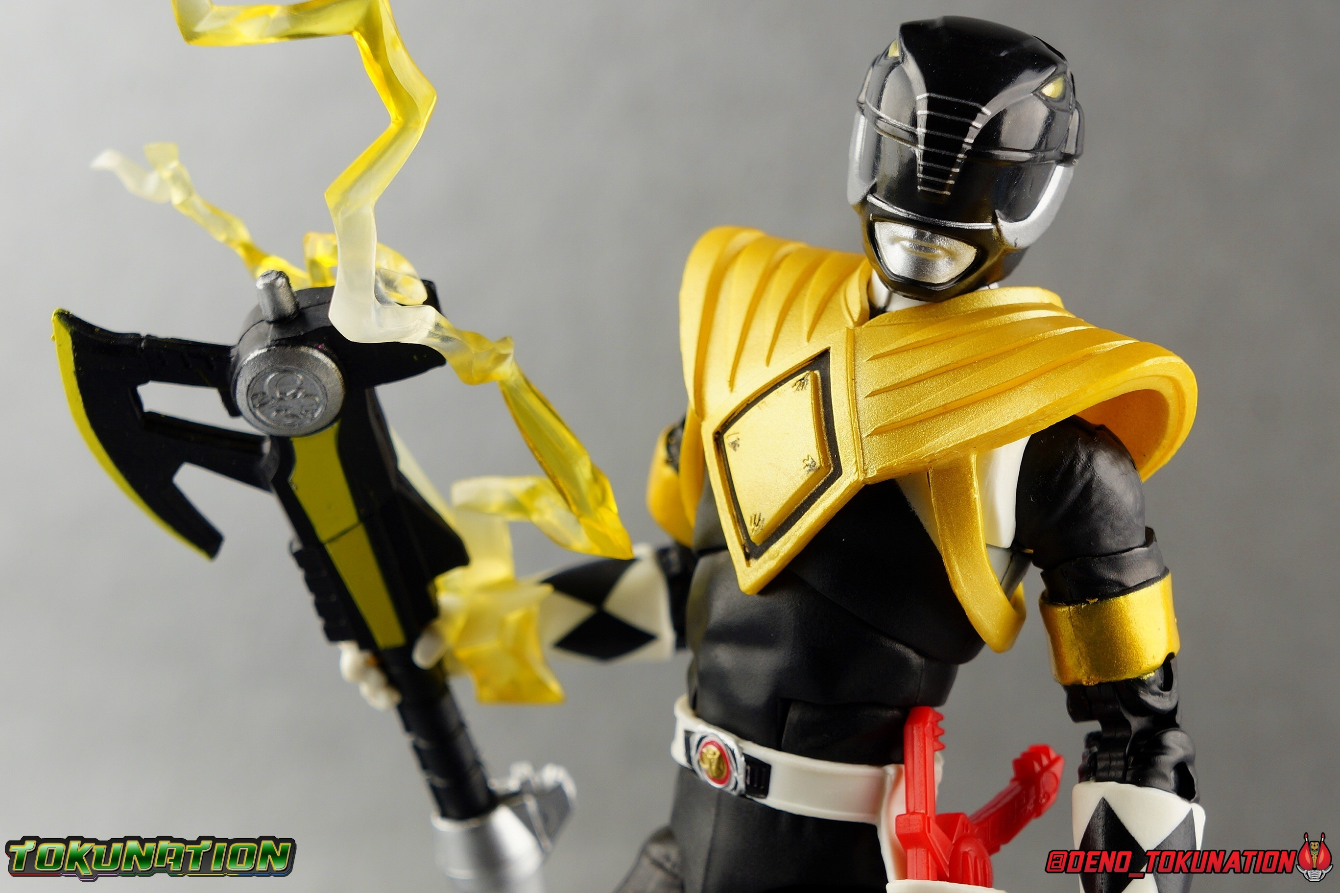 Power Rangers Lightning Collection Dragon Shield Mighty Morphin Black Ranger Gallery Tokunation Armour in black dragon armour. power rangers lightning collection