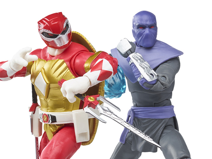 Lightning Collection Power Rangers X Teenage Mutant Ninja Turtles Morphed Raphael & Foot Soldier Tommy Revealed